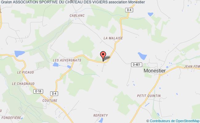 plan association Association Sportive Du Chateau Des Vigiers
