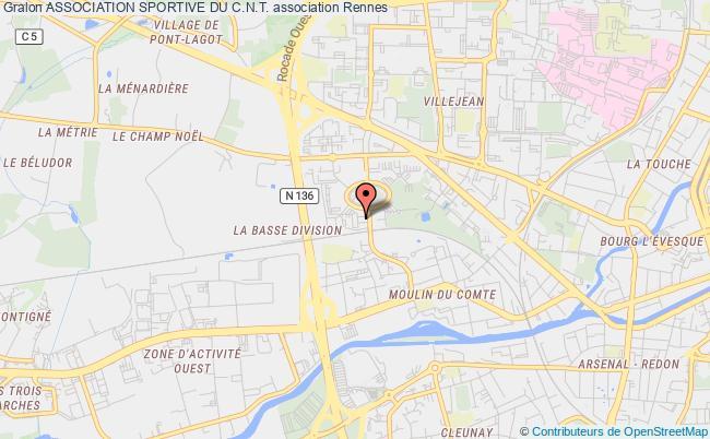 plan association Association Sportive Du C.n.t. Rennes