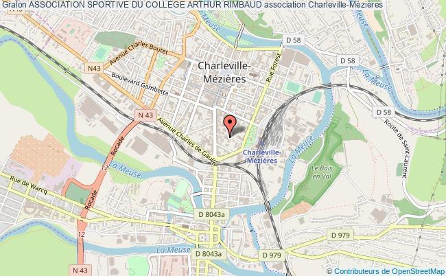 plan association Association Sportive Du College Arthur Rimbaud