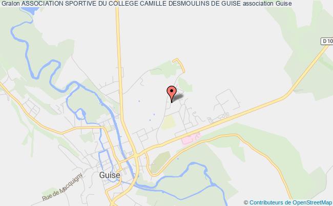 plan association Association Sportive Du College Camille Desmoulins De Guise