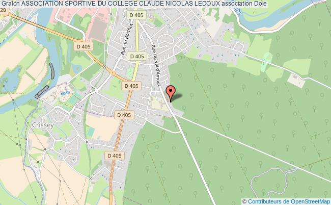 plan association Association Sportive Du College Claude Nicolas Ledoux Dole