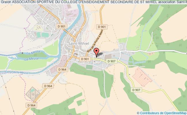 plan association Association Sportive Du College D'enseignement Secondaire De St Mihiel