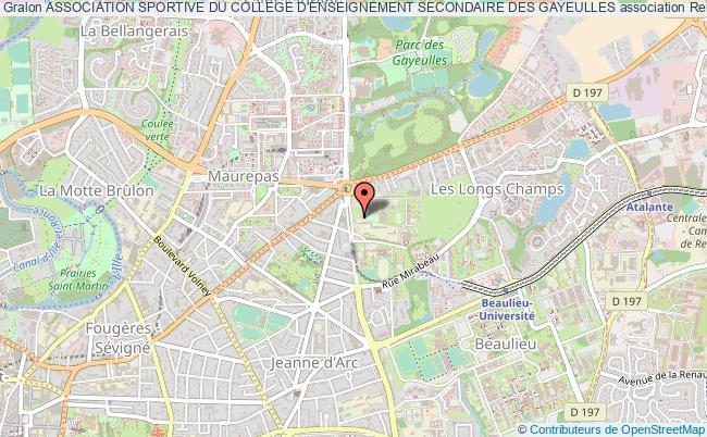 plan association Association Sportive Du College D'enseignement Secondaire Des Gayeulles