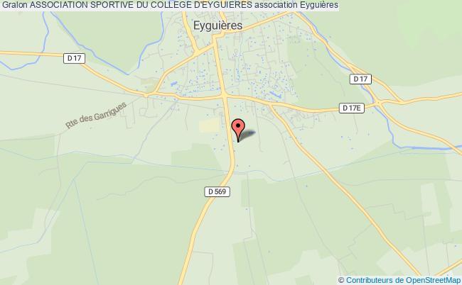 plan association Association Sportive Du College D'eyguieres