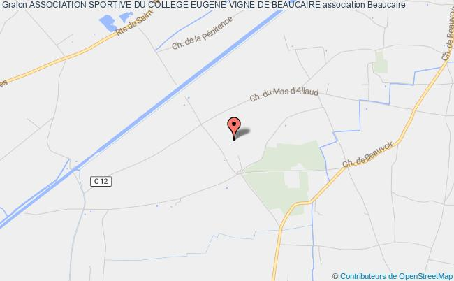 plan association Association Sportive Du College Eugene Vigne De Beaucaire