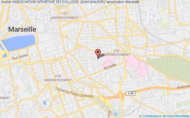 plan association Association Sportive Du College Jean Malrieu Marseille