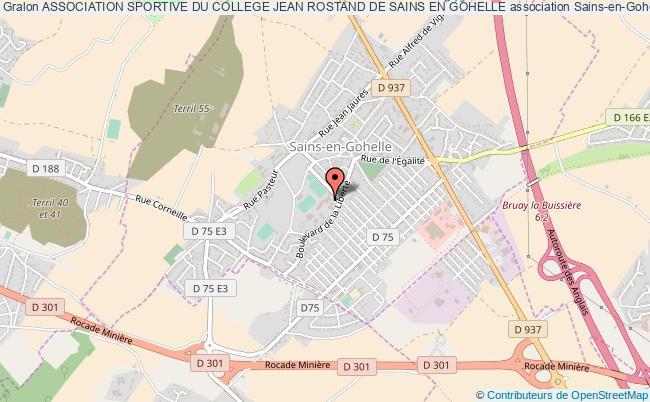 plan association Association Sportive Du College Jean Rostand De Sains En Gohelle