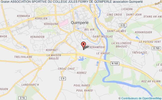 plan association Association Sportive Du CollÈge Jules Ferry De QuimperlÉ