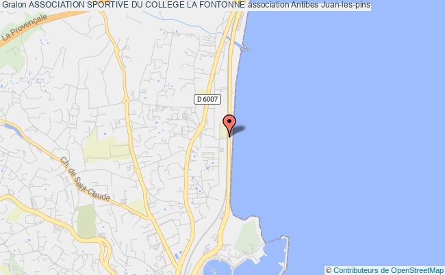 plan association Association Sportive Du College La Fontonne Antibes