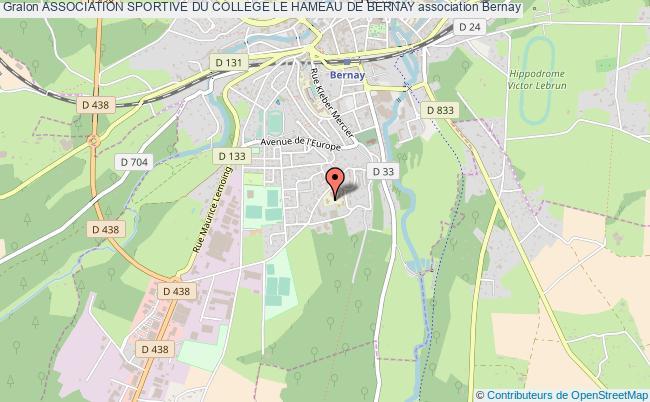 plan association Association Sportive Du College Le Hameau De Bernay