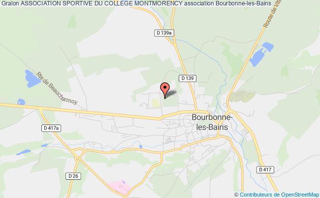 plan association Association Sportive Du College Montmorency Bourbonne-les-Bains