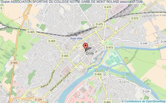 plan association Association Sportive Du College Notre Dame De Mont Roland Dole