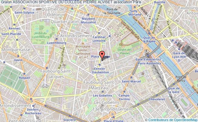 plan association Association Sportive Du College Pierre Alviset