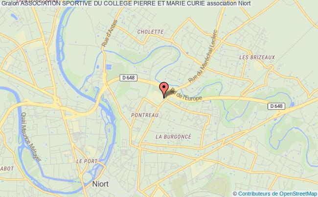plan association Association Sportive Du College Pierre Et Marie Curie