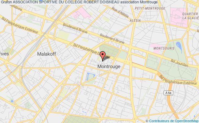 plan association Association Sportive Du College Robert Doisneau Montrouge