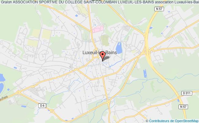 plan association Association Sportive Du College Saint-colomban Luxeuil-les-bains