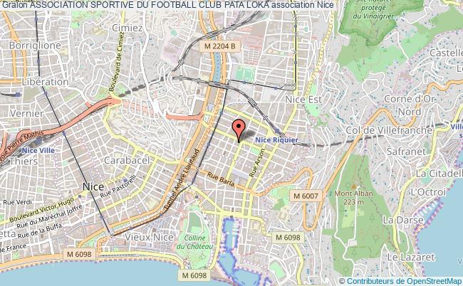 plan association Association Sportive Du Football Club Pata Loka Nice