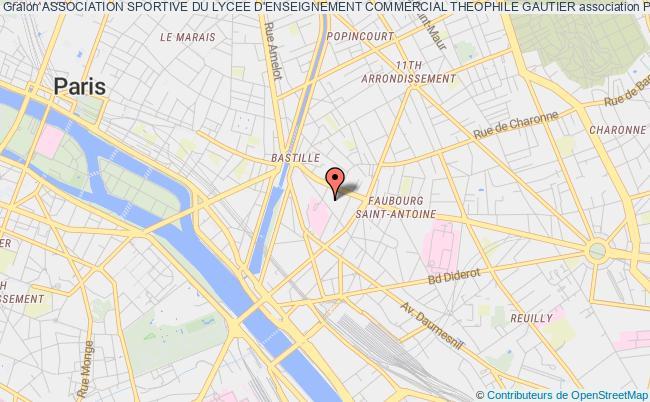 plan association Association Sportive Du Lycee D'enseignement Commercial Theophile Gautier Paris