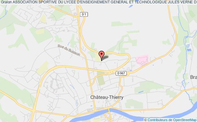 plan association Association Sportive Du Lycee D'enseignement General Et Technologique Jules Verne De Chateau-thierry