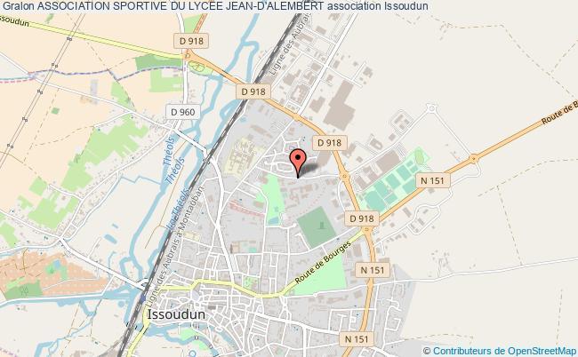 plan association Association Sportive Du Lycee Jean-d'alembert Issoudun