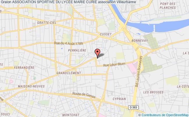 plan association Association Sportive Du LycÉe Marie Curie