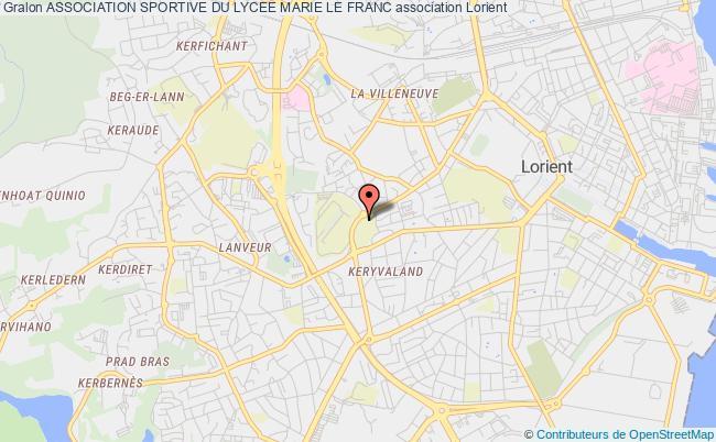 plan association Association Sportive Du Lycee Marie Le Franc Lorient