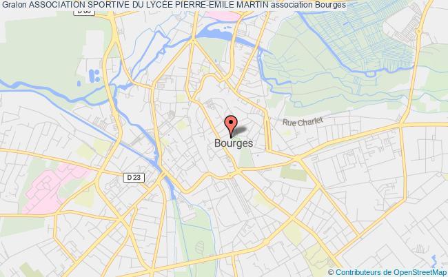 plan association Association Sportive Du LycÉe Pierre-emile Martin Bourges