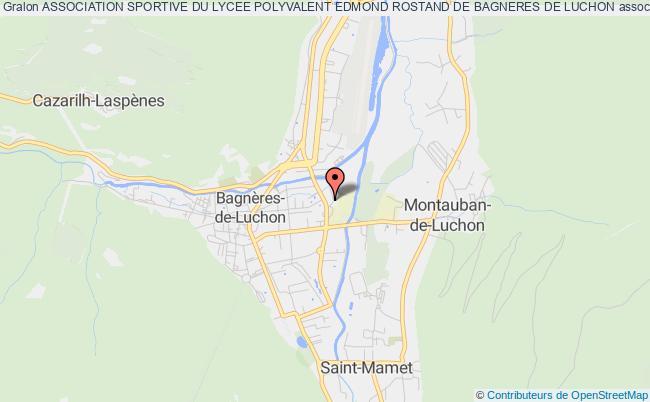 plan association Association Sportive Du Lycee Polyvalent Edmond Rostand De Bagneres De Luchon Bagnères-de-Luchon