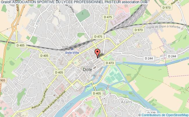 plan association Association Sportive Du Lycee Professionnel Pasteur Dole