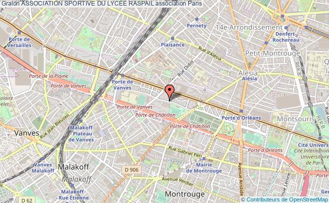 plan association Association Sportive Du Lycee Raspail Paris