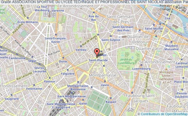 plan association Association Sportive Du Lycee Technique Et Professionnel De Saint Nicolas Paris 6e
