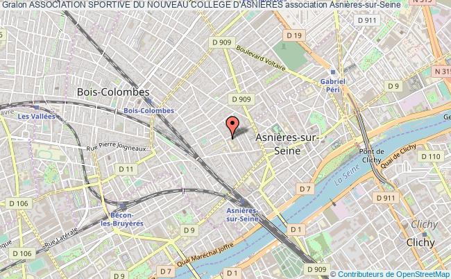 plan association Association Sportive Du Nouveau College D'asnieres Asnières-sur-Seine