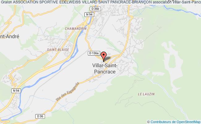 plan association Association Sportive Edelweiss Villard Saint Pancrace-brianÇon