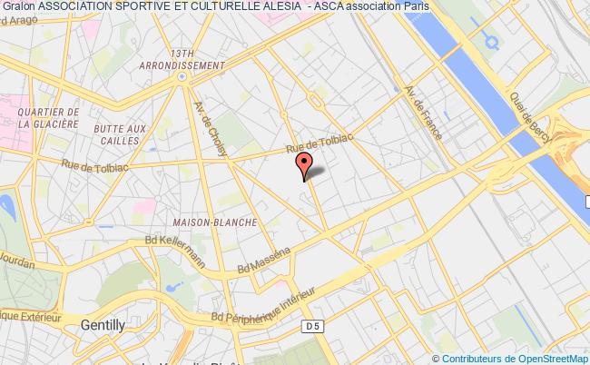 plan association Association Sportive Et Culturelle Alesia  - Asca