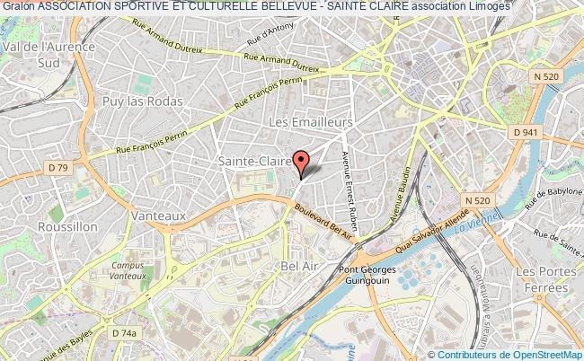 plan association Association Sportive Et Culturelle Bellevue - Sainte Claire Limoges