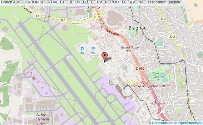 plan association Association Sportive Et Culturelle De L'aeroport De Blagnac