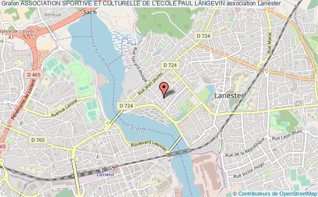 plan association Association Sportive Et Culturelle De L'ecole Paul Langevin
