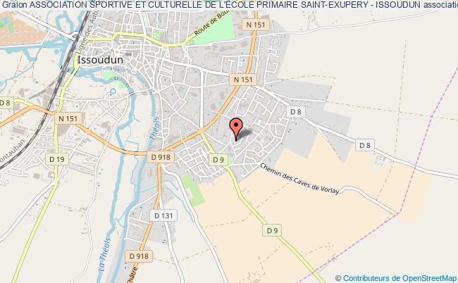 plan association Association Sportive Et Culturelle De L'ecole Primaire Saint-exupery - Issoudun Issoudun