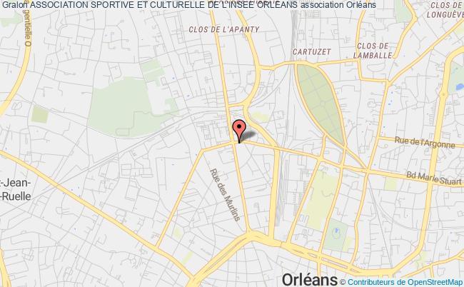 plan association Association Sportive Et Culturelle De L'insee Orleans