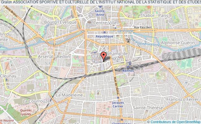 plan association Association Sportive Et Culturelle De L'institut National De La Statistique Et Des Etudes Economiques De Rennes (a.s.c.i.r.) Rennes