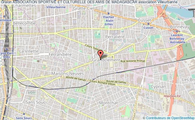 plan association Association Sportive Et Culturelle Des Amis De Madagascar