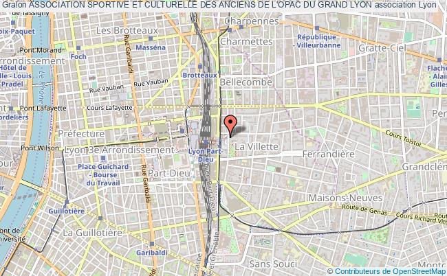 plan association Association Sportive Et Culturelle Des Anciens De L'opac Du Grand Lyon