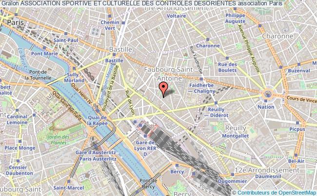 plan association Association Sportive Et Culturelle Des Controles Desorientes Paris 12e