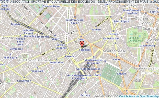 plan association Association Sportive Et Culturelle Des Ecoles Du 15eme Arrondissement De Paris Paris