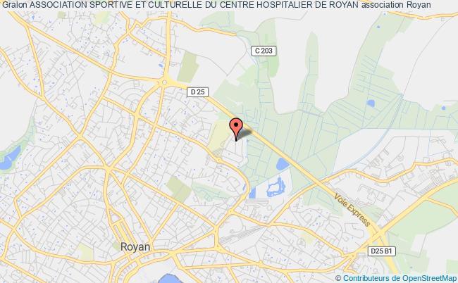 plan association Association Sportive Et Culturelle Du Centre Hospitalier De Royan Royan cedex