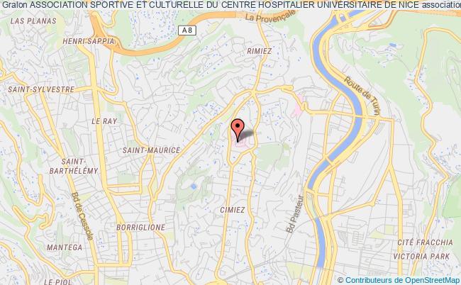 plan association Association Sportive Et Culturelle Du Centre Hospitalier Universitaire De Nice Nice