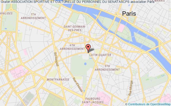 plan association Association Sportive Et Culturelle Du Personnel Du Senat Ascps Paris
