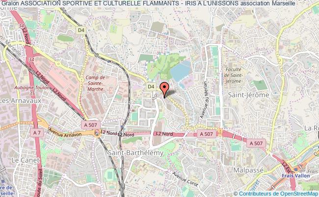 plan association Association Sportive Et Culturelle Flammants - Iris A L'unissons