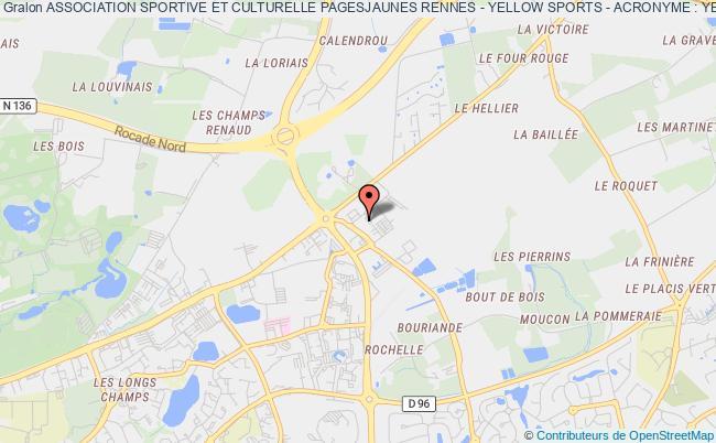 plan association Association Sportive Et Culturelle Pagesjaunes Rennes - Yellow Sports - Acronyme : Yes Rennes cedex 2