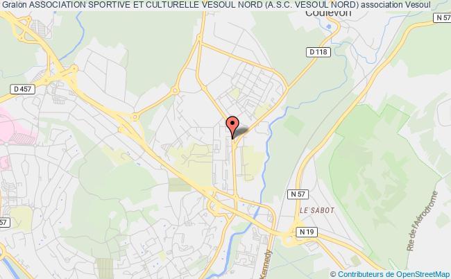 plan association Association Sportive Et Culturelle Vesoul Nord (a.s.c. Vesoul Nord)